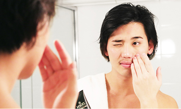 その②:顔全体に浸み込ませるように塗る