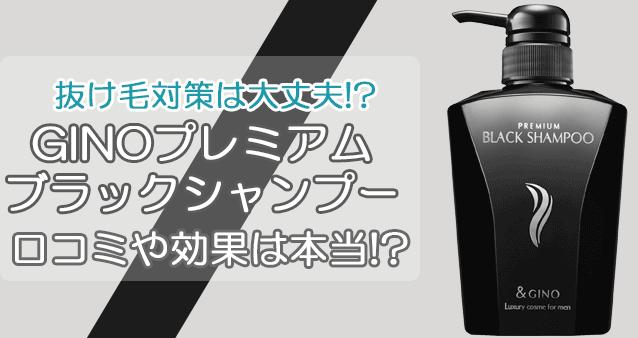 GINO(ジーノ)プレミアムブラックシャンプーの驚きの口コミと効果とは