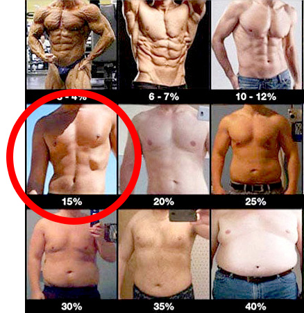 体脂肪15%