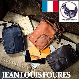 フランス製カーフ2WAY ショルダーバッグ JEAN LOUIS FOURES ジャンルイフレ