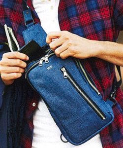 【DECADE(ディケイド)】DCD-00998-Denim Leather Body Bag バッグ