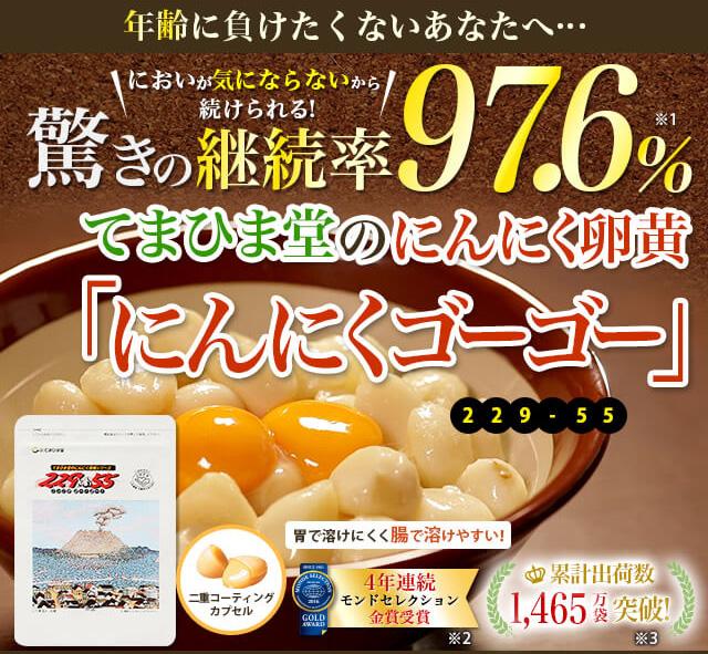疲労回復サプリランキング5位:にんにく卵黄【229-55(ニンニクゴーゴー)】