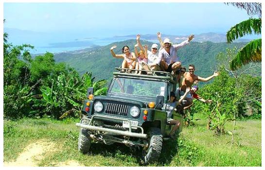 1番人気!4WDジープで行く!ジャングルサファリ ツアー(約6時間コース)