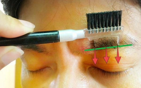基本のメンズ眉毛の整え方4