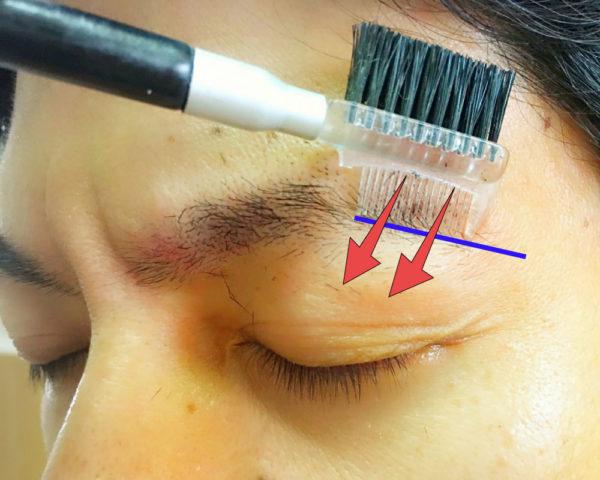 基本のメンズ眉毛の整え方