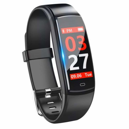 スマートウォッチ 血圧 心拍計 歩数計 カラースクリーン IP67防水 スマートブレスレット