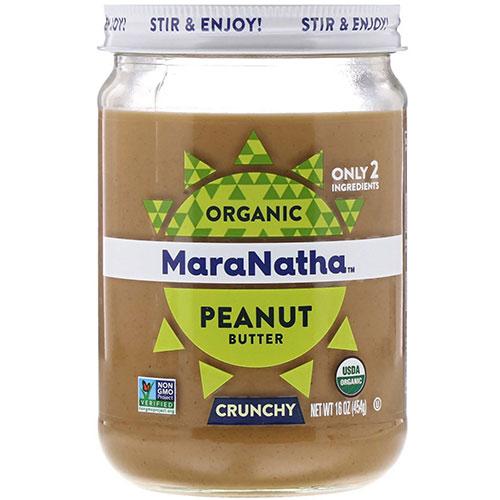 市販の人気なピーナッツバター(無糖)ランキング1位:MaraNathaオーガニック・ピーナッツバタークランチー(無加糖)