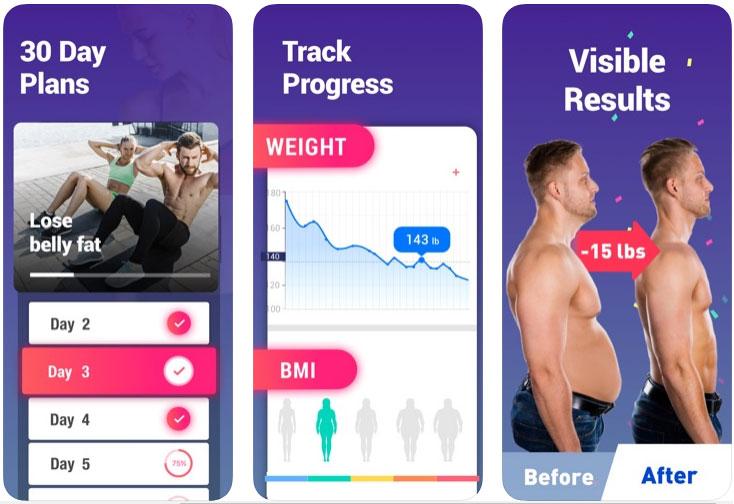 筋トレアプリランキング4位:30日でお腹の脂肪を落とす